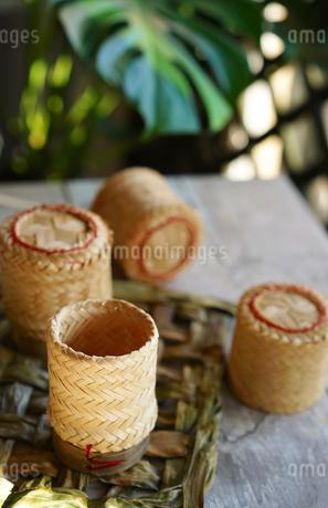 タイのもち米入れの写真素材 [FYI01813606]