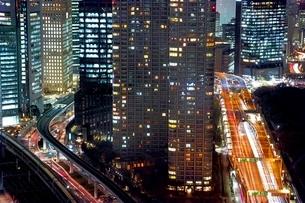 東京の夜景の写真素材 [FYI01813802]