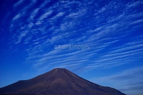 山中湖より望む無雪期の富士山と秋空の写真素材 [FYI01814006]