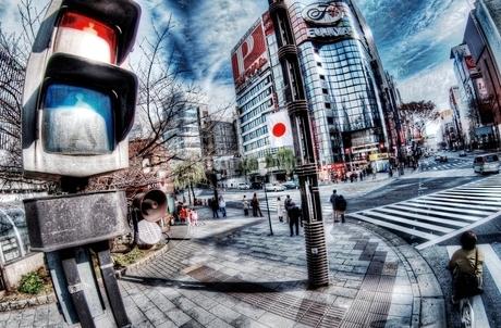 元旦の朝の東京の風景の写真素材 [FYI01814174]