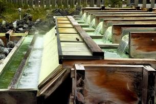 草津温泉湯畑の写真素材 [FYI01814333]
