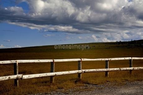美ヶ原高原の牧場の柵の写真素材 [FYI01814336]
