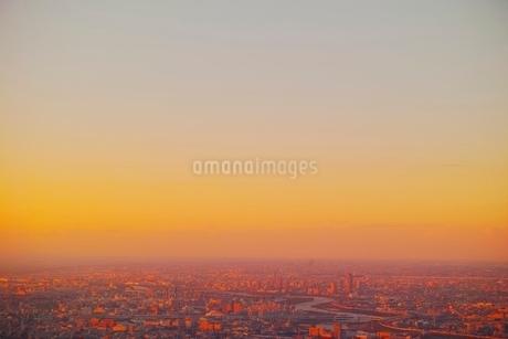 東京スカイツリーより望む都市夕景の写真素材 [FYI01814578]
