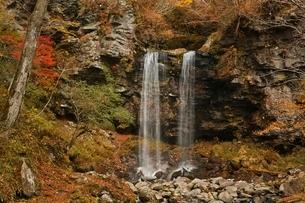 秋の夫婦滝の写真素材 [FYI01814666]