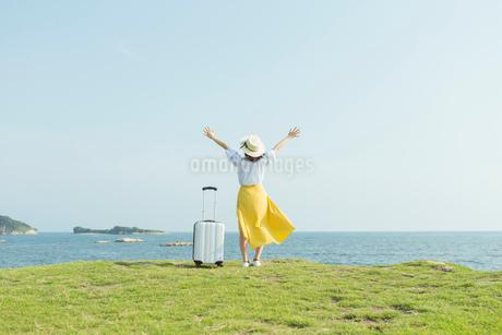 旅行を楽しむ女性の写真素材 [FYI01814715]