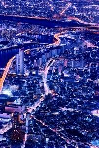 東京スカイツリーより望む都市夜景の写真素材 [FYI01814933]