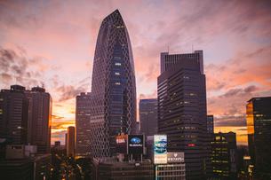 夕焼けの新宿の写真素材 [FYI01814961]