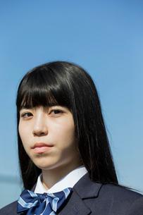 女子高校生のポートレイトの写真素材 [FYI01815496]