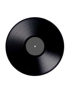 レコードの真俯瞰カットの写真素材 [FYI01815532]