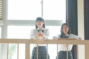 応援する女子高校生の写真素材 [FYI01815639]