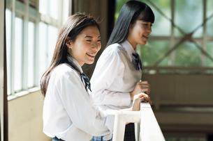 応援する女子高校生の写真素材 [FYI01815715]