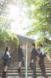 登校中の高校生の写真素材 [FYI01815846]