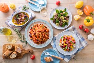 蛸料理テーブルイメージの写真素材 [FYI01815999]
