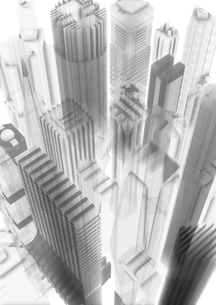 上から見た半透明のビルのイラスト素材 [FYI01816078]