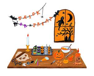 prepare for Halloweenのイラスト素材 [FYI01816106]