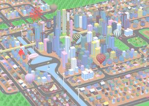 俯瞰の街のイラスト素材 [FYI01816124]