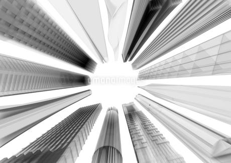 下から見上げた半透明のビルのイラスト素材 [FYI01816160]