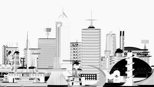 モノトーン調の未来都市の写真素材 [FYI01816162]