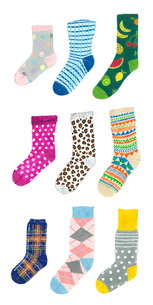 いろいろな靴下のイラスト素材 [FYI01816172]