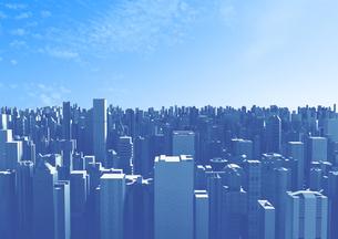 ビル群と青空のイラスト素材 [FYI01816181]