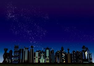 星空 未来都市の写真素材 [FYI01816293]