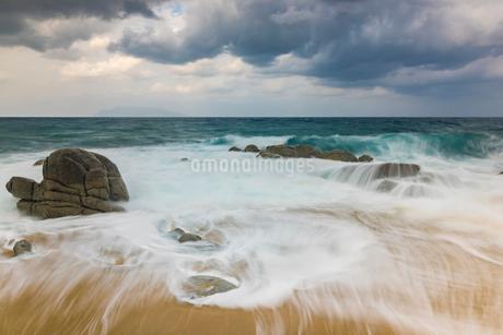 屋久島 永田いなか浜の写真素材 [FYI01816347]