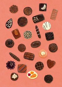 いろいろなチョコレートのイラスト素材 [FYI01816371]