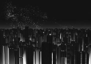 ビル群と星空のイラスト素材 [FYI01816387]