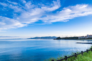 早朝の海の写真素材 [FYI01816418]