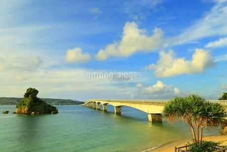 夕照の古宇利大橋の写真素材 [FYI01816848]