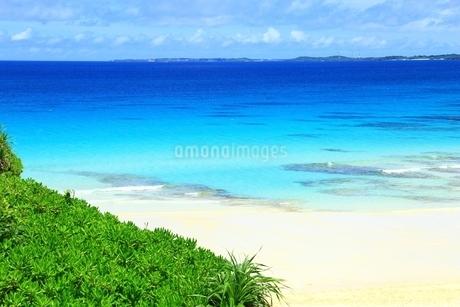 砂山ビーチと青い海の写真素材 [FYI01817353]