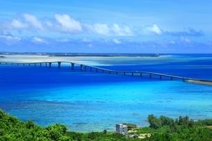 伊良部大橋と青い海の写真素材 [FYI01817359]