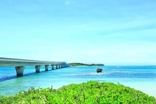池間大橋と青い海の写真素材 [FYI01817360]