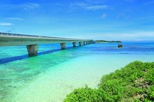 池間大橋と青い海の写真素材 [FYI01817439]