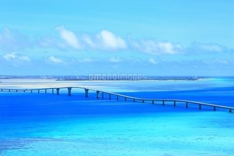 伊良部大橋と青い海の写真素材 [FYI01817583]