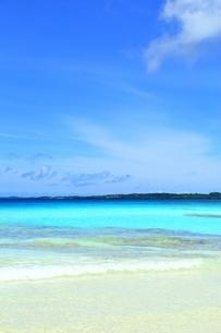 砂山ビーチと青い海の写真素材 [FYI01817611]