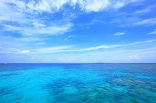 沖縄 西表島 サンゴ礁と青い海の写真素材 [FYI01817768]