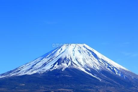 朝霧高原より望む富士山の写真素材 [FYI01818034]