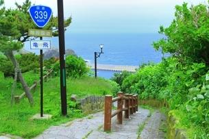 津軽半島 階段国道の写真素材 [FYI01818466]