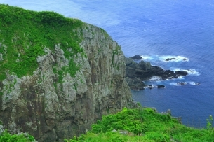 津軽半島 竜飛崎の写真素材 [FYI01818548]