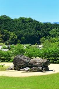 新緑の石舞台古墳の写真素材 [FYI01818814]