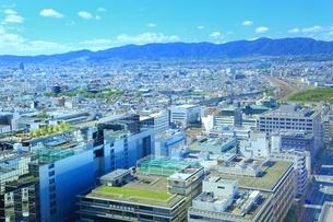 京都タワーより望む京都市街の写真素材 [FYI01819158]