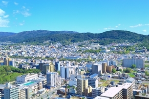 京都タワーより望む京都市街の写真素材 [FYI01819353]