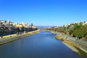 京都 四条大橋から望む鴨川の写真素材 [FYI01819481]