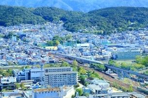 京都タワーより望む京都市街の写真素材 [FYI01819493]
