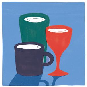 グラスとワイングラスとマグカップのイラスト素材 [FYI01819511]