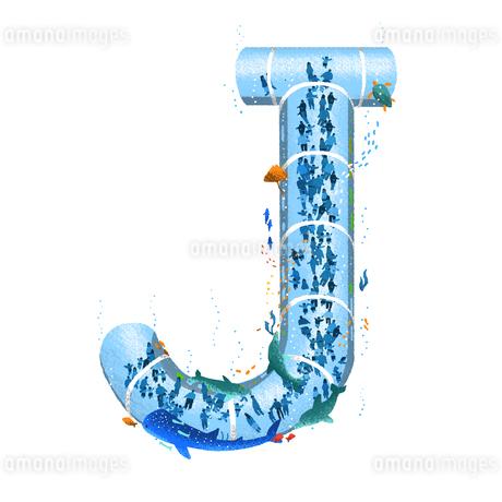 アルファベット Jのイラスト素材 [FYI01819552]