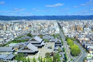 京都タワーより望む京都市街の写真素材 [FYI01819576]