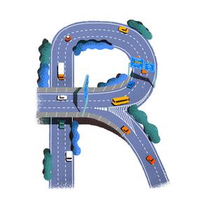 アルファベット Rのイラスト素材 [FYI01819600]