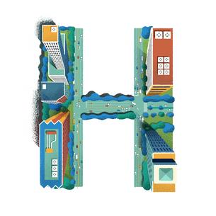 アルファベット Hのイラスト素材 [FYI01819630]